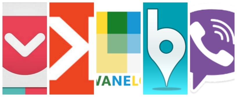 Pocket, Snakt, Wanelo, Banjo, Viber
