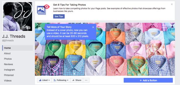 Facebook cover video specs.
